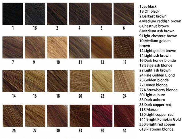 Understanding Hair Color Codes Black Clip In